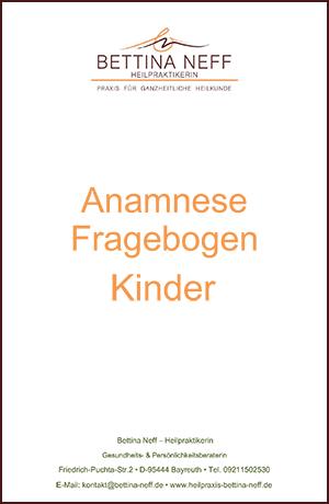 Anamnesefragebogen für Kinder